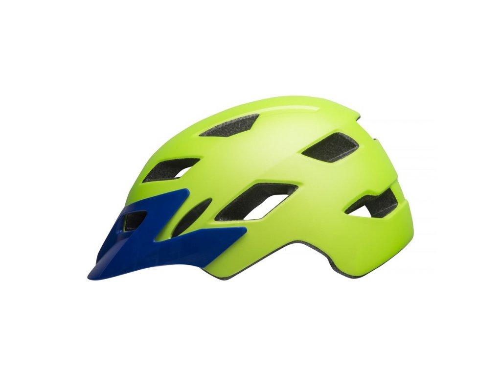 Dětská helma BELL Sidetrack Child Mat Bright Green/Blue