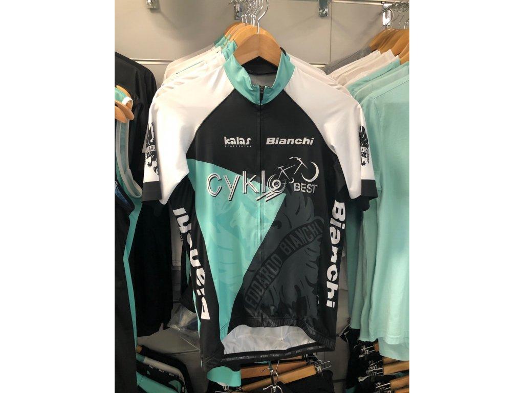 Pánský dres Cyklobest NEW - edice Bianchi