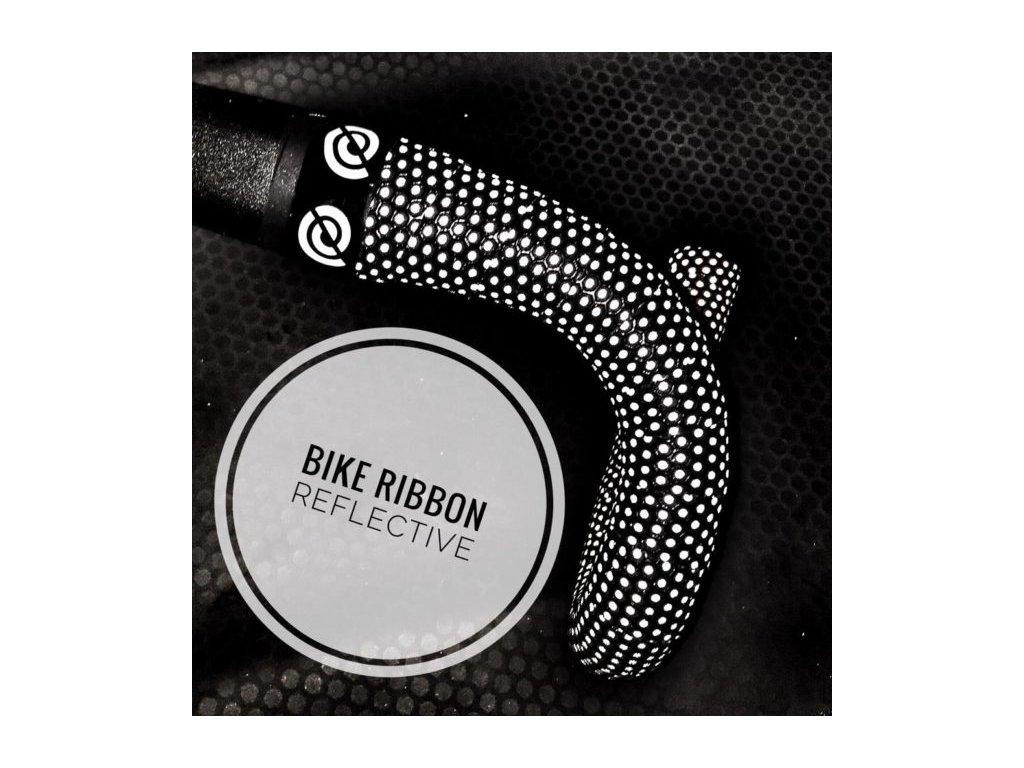 Omotávka BIKERIBBON Reflective - černá/šedá