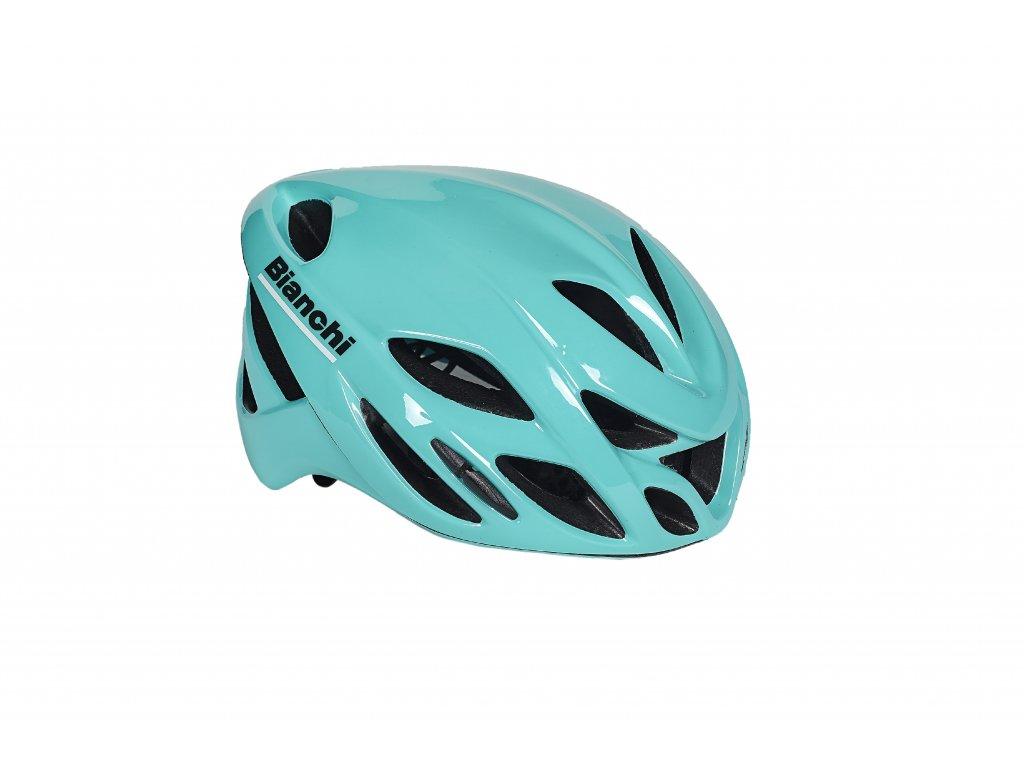 Cyklistická helma Bianchi SHIROCCO - CELESTE GLOSSY