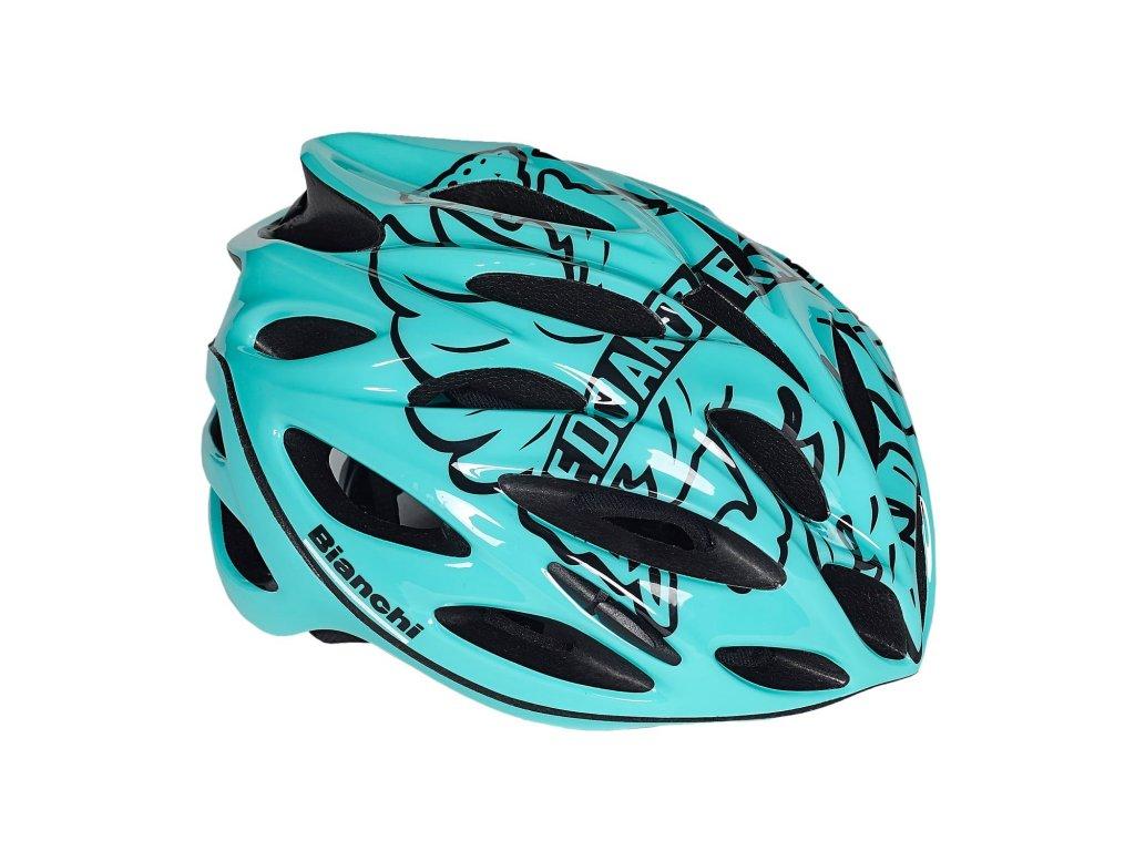 Cyklistická helma Bianchi SHOT - celeste