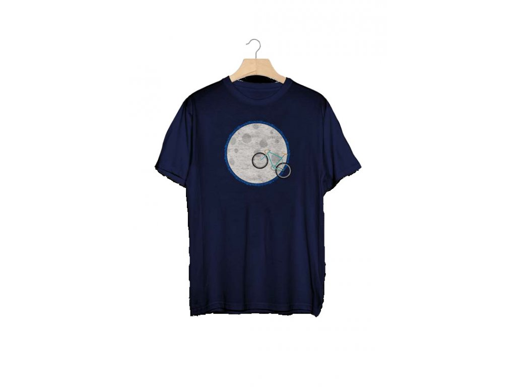Pánské tričko T-Shirt Bianchi Moon - modré
