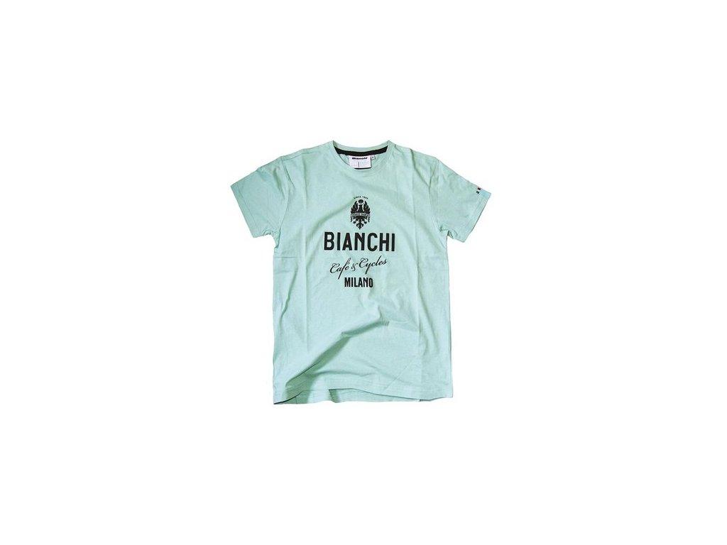 T-shirt Bianchi CAFE Celeste