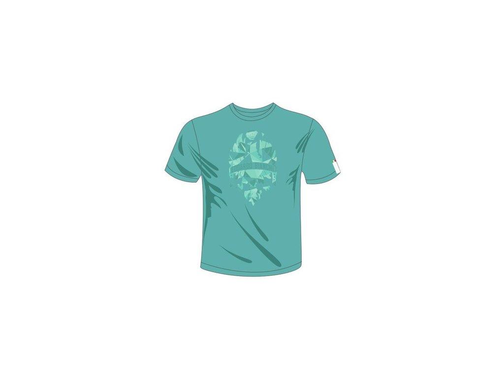 T-shirt Bianchi DIAMONDS - celeste