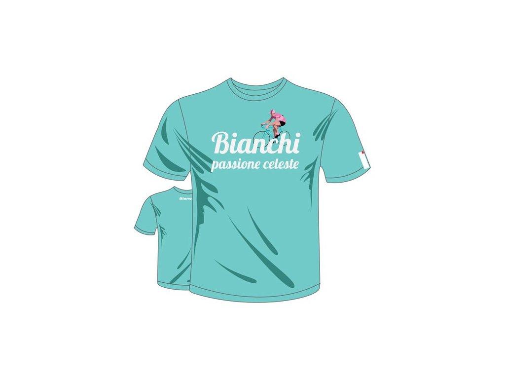 T-shirt Bianchi Passione Vintage Celeste