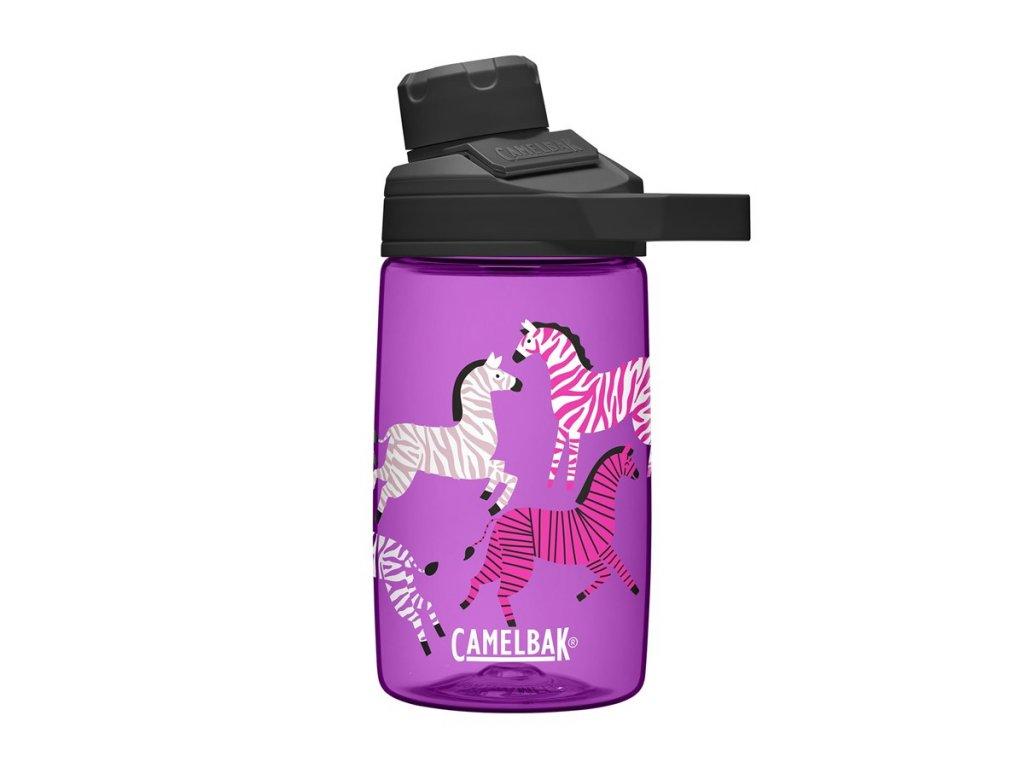 Dětská láhev CAMELBAK Chute Mag Kids 0,4l Zebras