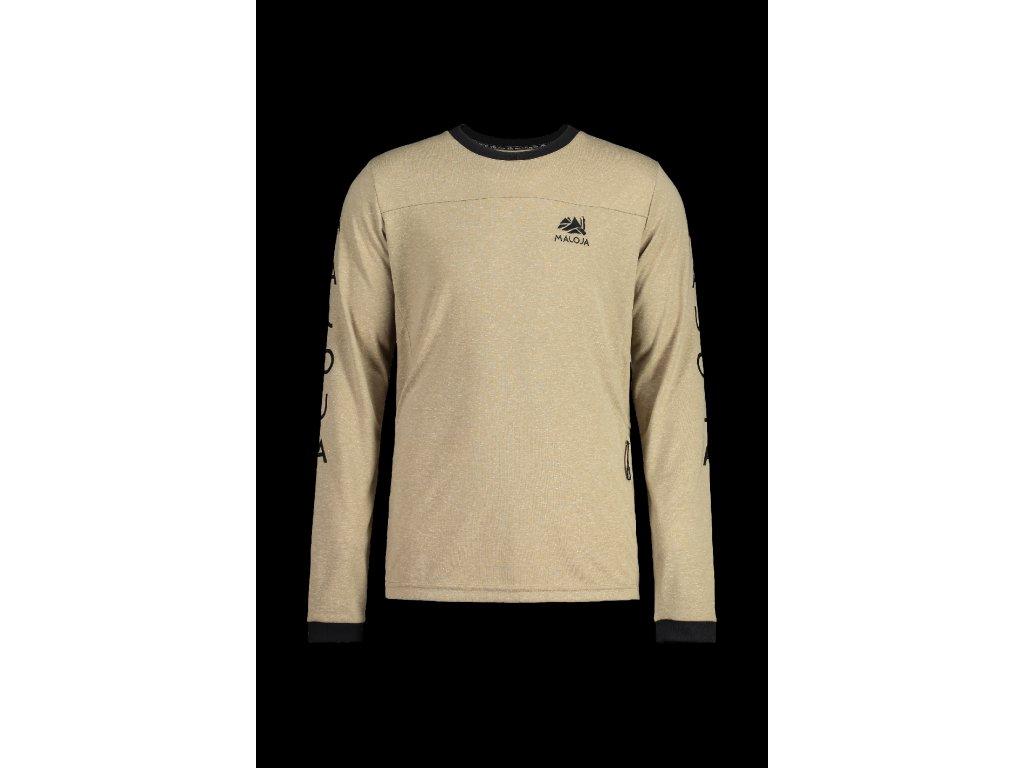 Pánské tričko MALOJA MürM - krémová
