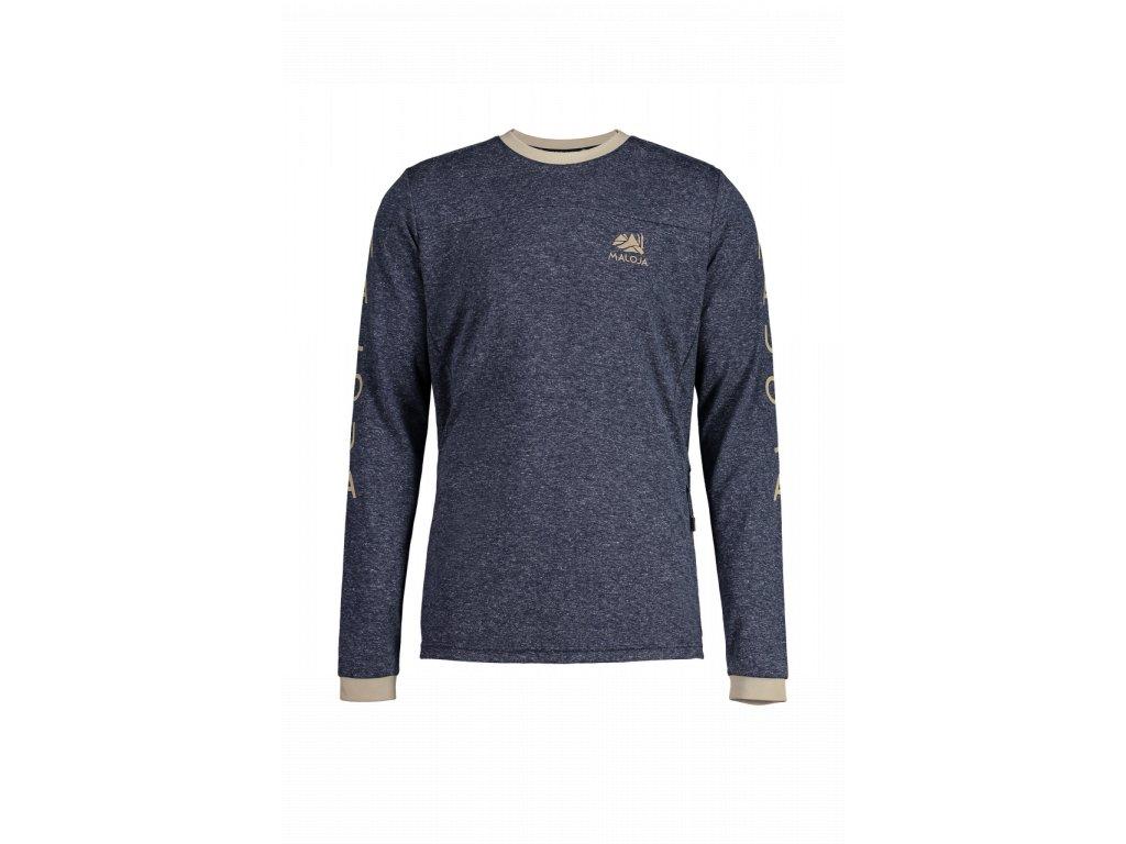 Pánské tričko MALOJA MürM - tmavě modrá