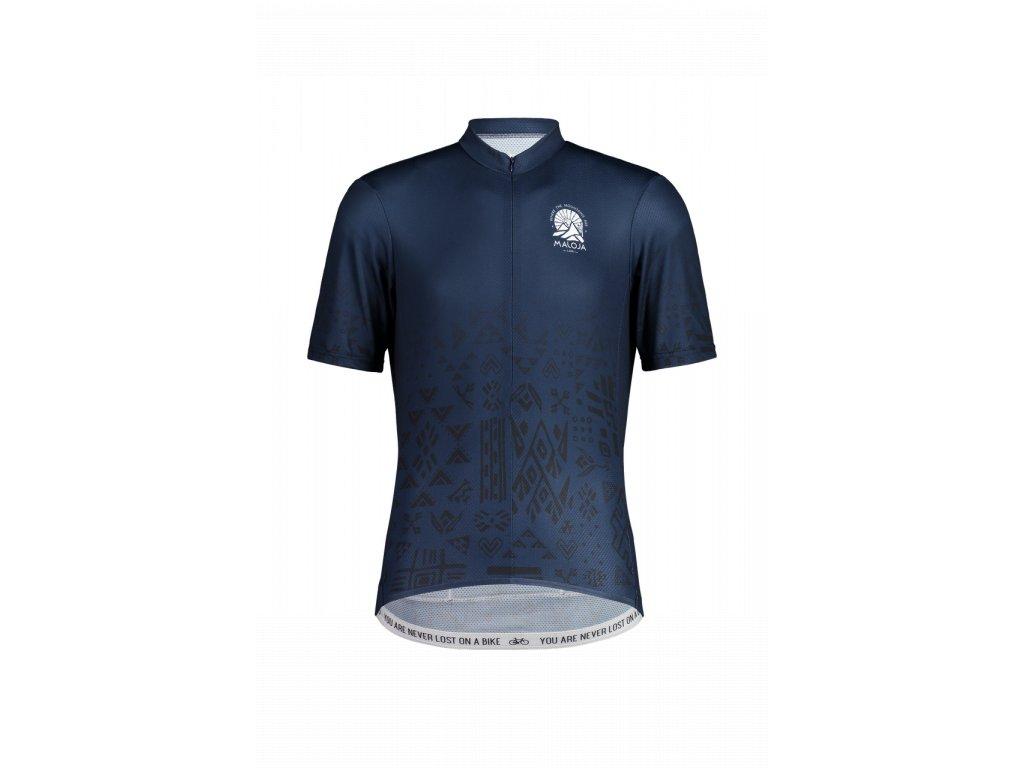 Pánský cyklistický dres MALOJA GUAUD - tmavě modrá