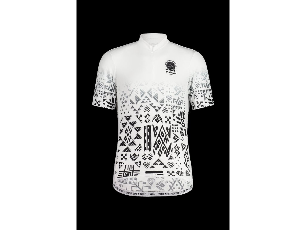 Pánský cyklistický dres MALOJA GUAUD - bílá