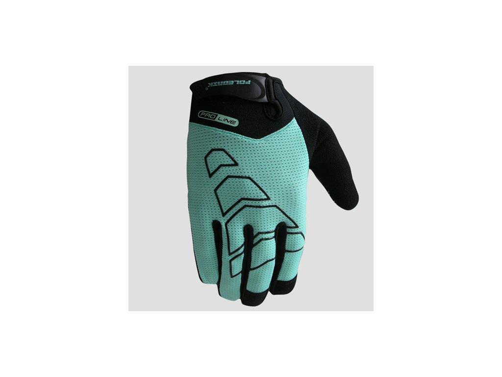 Cyklistické rukavice Poledník ARROW  - celeste