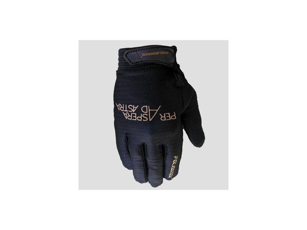 Cyklistické rukavice Poledník DYNAMIC 2020  - celeste