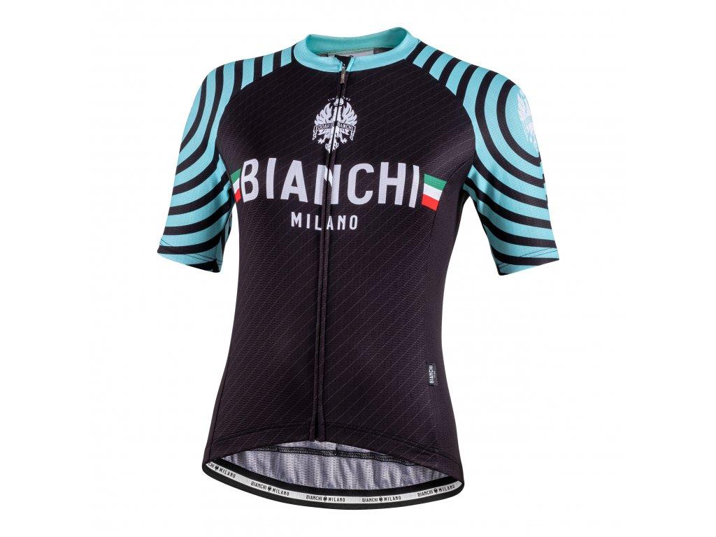 Dámský dres Bianchi Milano ALTANA - černý