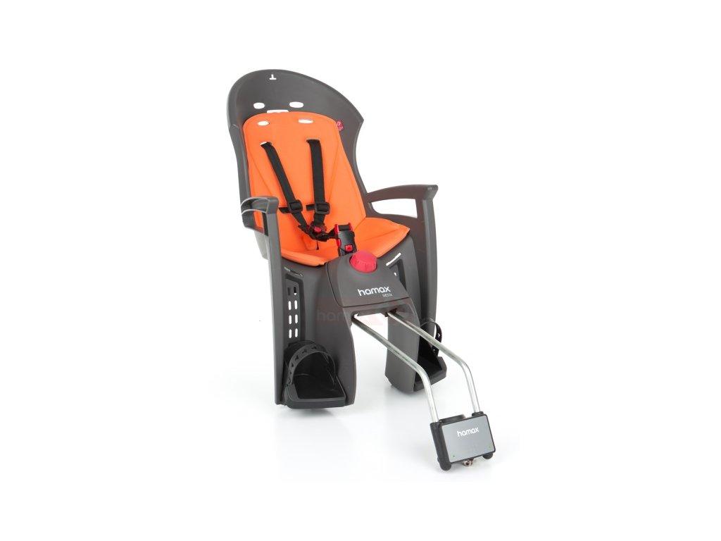 sedačka HAMAX SIESTA zadní tmavě šedá-oranžová