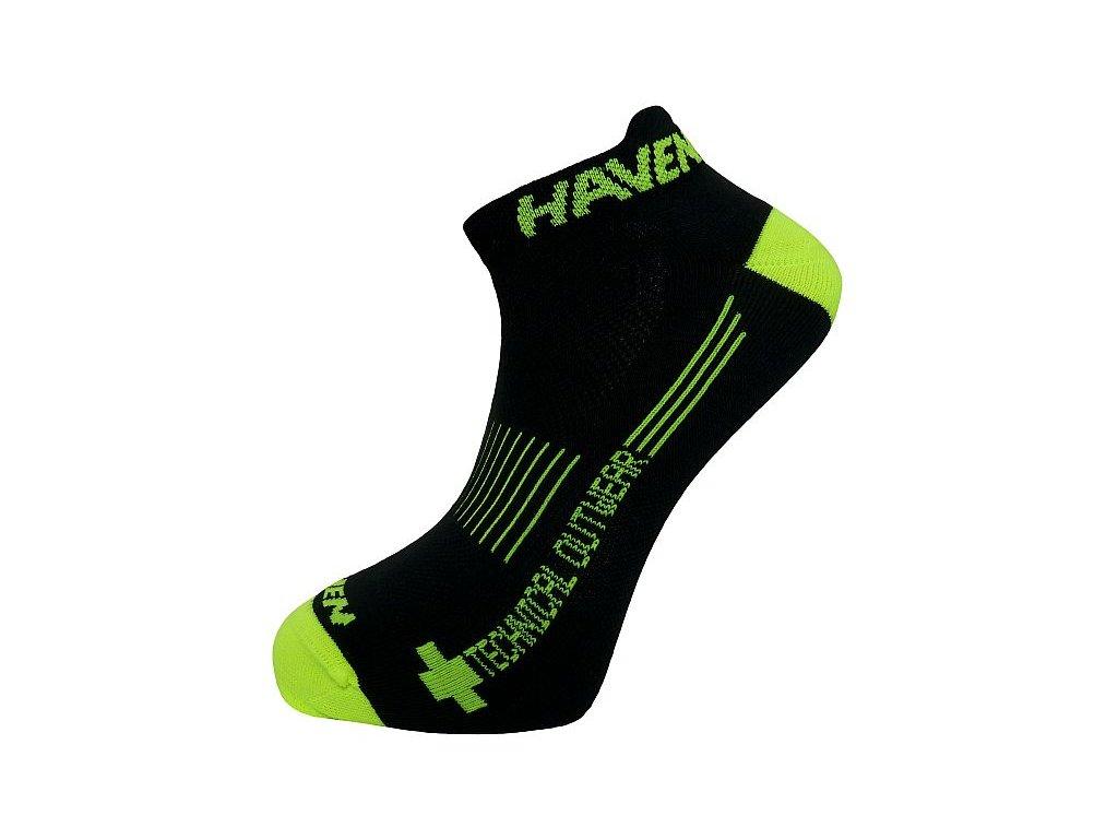 Ponožky HAVEN SNAKE Silver NEO black/yellow 2 páry