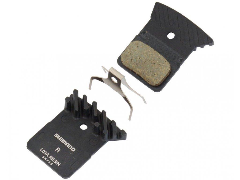 Brzdové destičky SHIMANO L03A polymerové s chladičem silniční