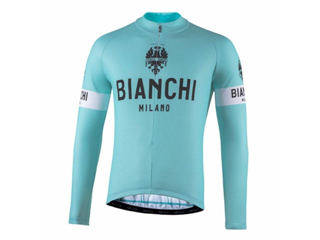 Zimní dres Bianchi Milano STORIA - 2021 (celeste)