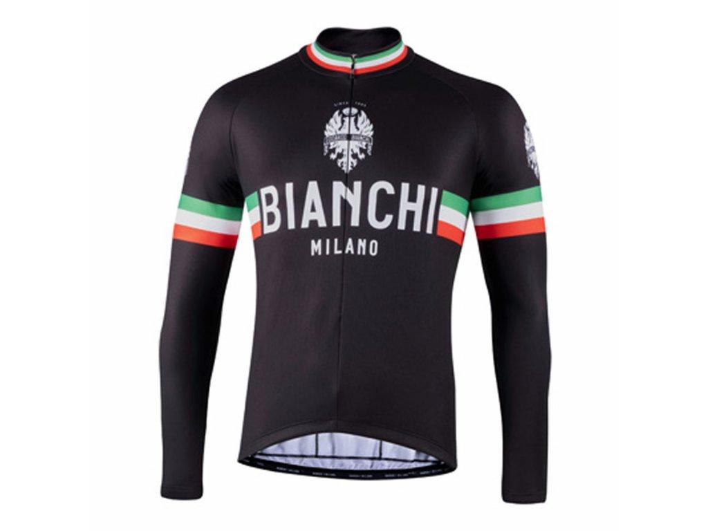 Zimní dres Bianchi Milano STORIA - 2021 (černá)