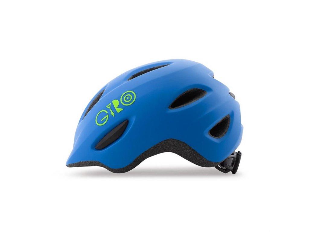 Dětská helma GIRO Scamp Mat Blue/Lime