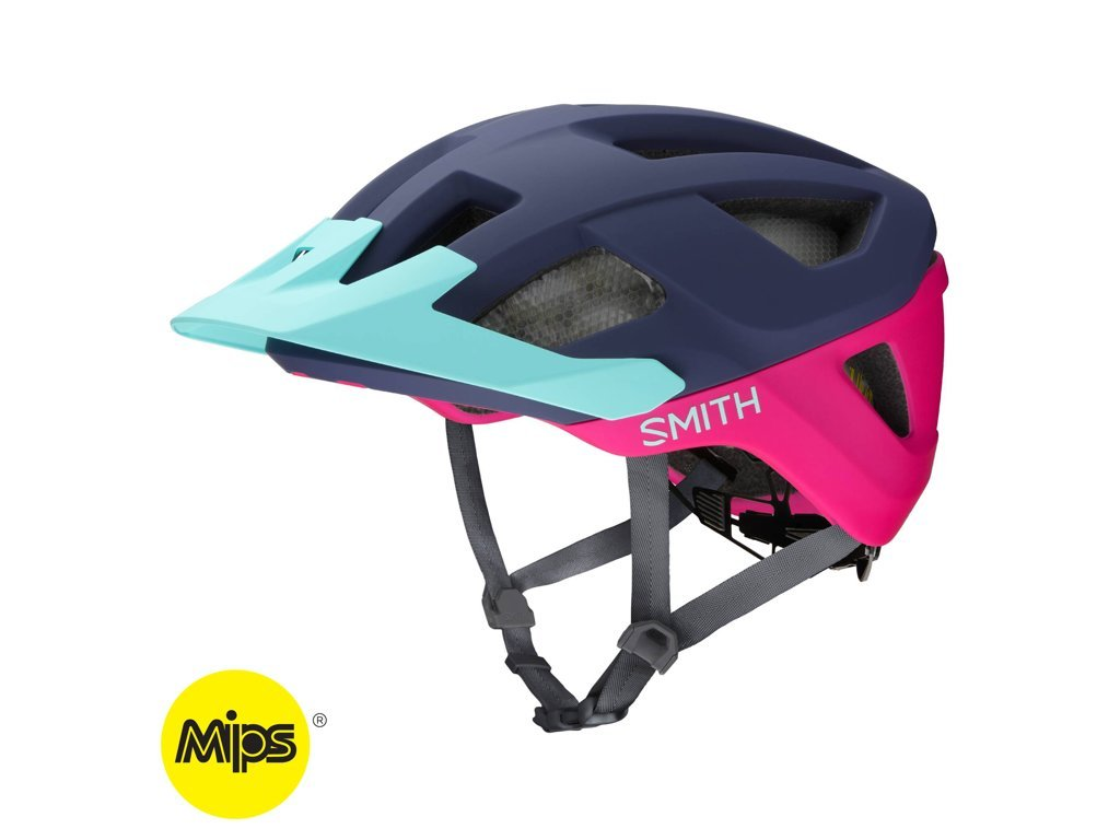 Cyklistická helma Smith Session MIPS Matte Indigo Peony Iceb