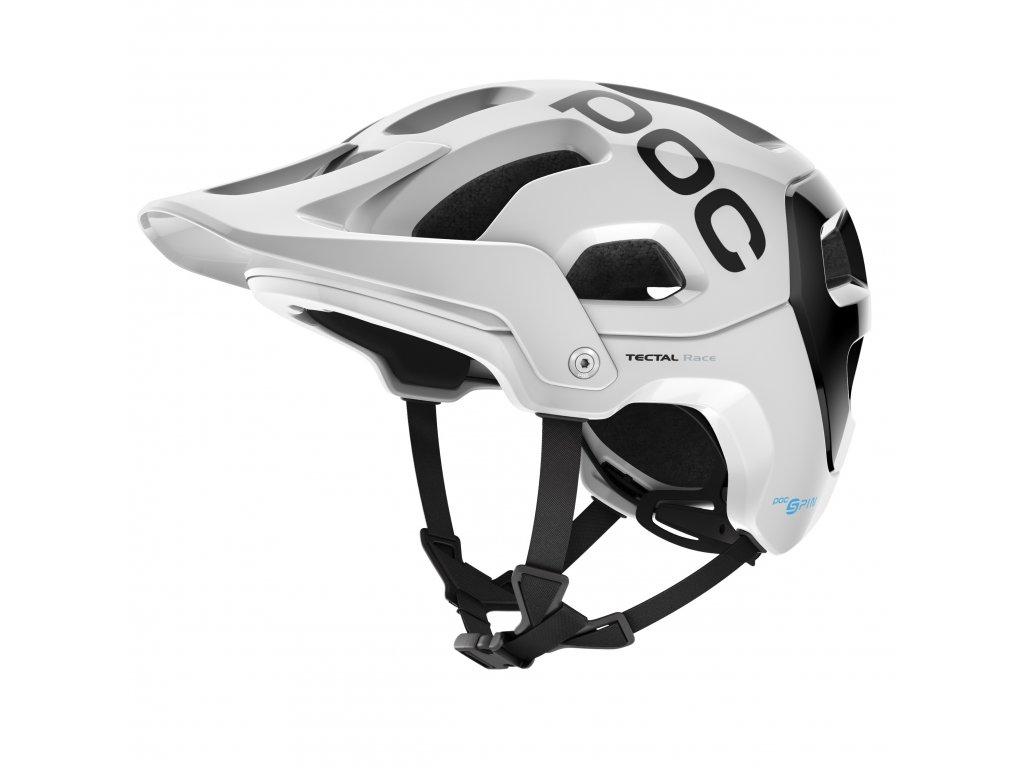 Cyklistická helma POC Tectal Race SPIN - Hydrogen White