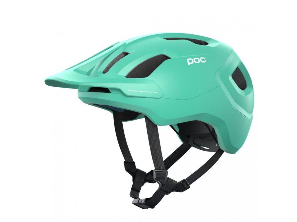 Cyklistická helma POC Axion SPINFluorite Green Matt