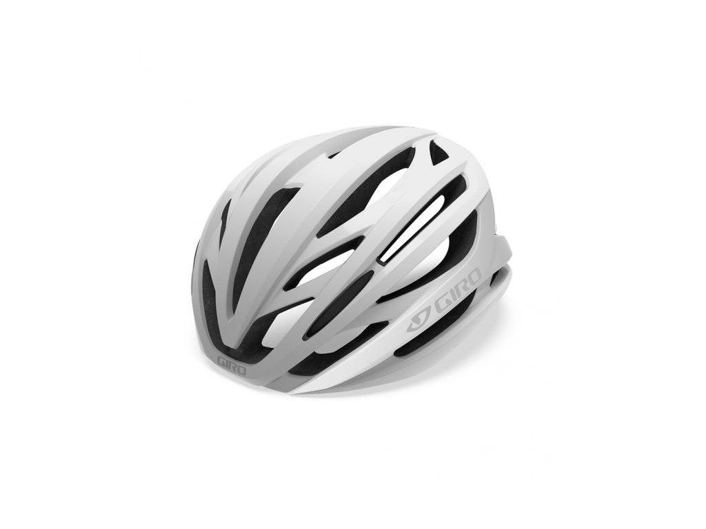 Cyklistická helma GIRO Syntax Mat White/Silver