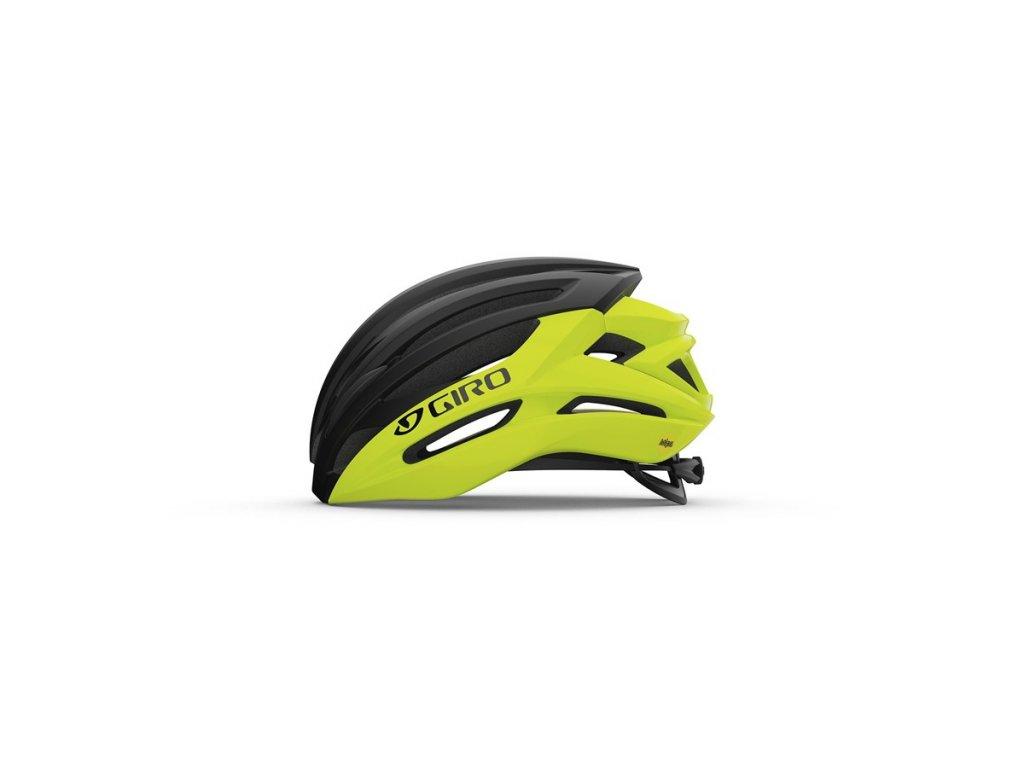 Cyklistická helma GIRO Syntax MIPS Highlight Yellow/Black