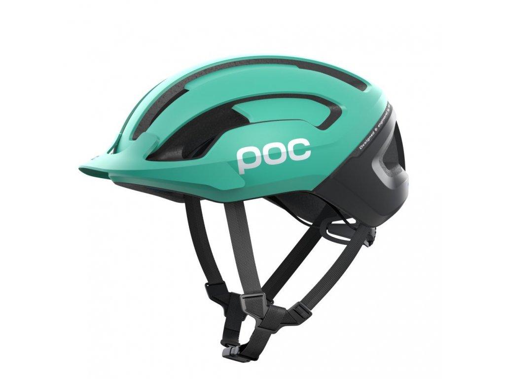 Cyklistická helma POC OMNE AIR RESISTANCE Fluorite Green Matt