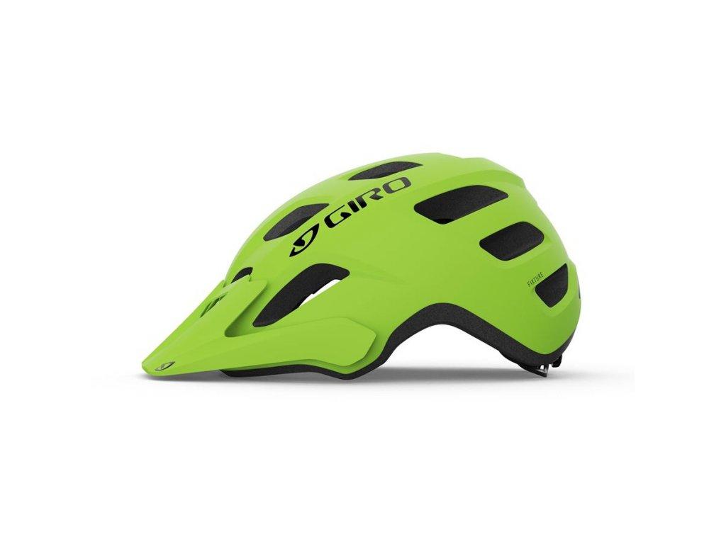 Cyklistická helma GIRO Fixture Mat Lime