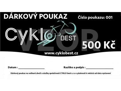 Dárkový poukaz Cyklobest.cz 500 Kč