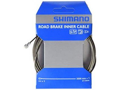 SHIMANO brzdové lanko pro sil/MTB z oceli 1,6x3500mm