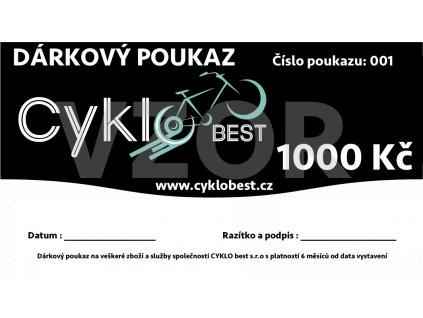 Dárkový poukaz Cyklobest.cz 1000 Kč