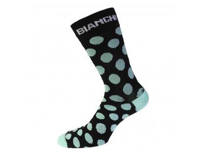 Ponožky Bianchi Milano BOLCA 4130 černá/celeste puntíky