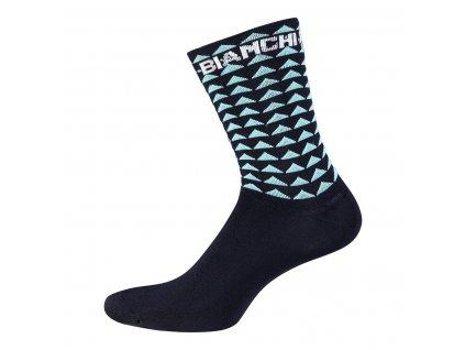 Ponožky Bianchi Milano BOLCA černá/celeste