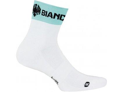 Ponožky Bianchi E11 Asfalto - bílá/celeste
