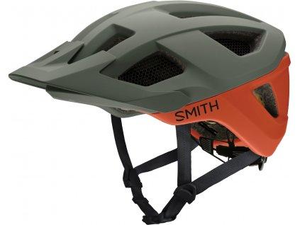 Cyklistická helma Smith Session MIPS - matte sage/red rock