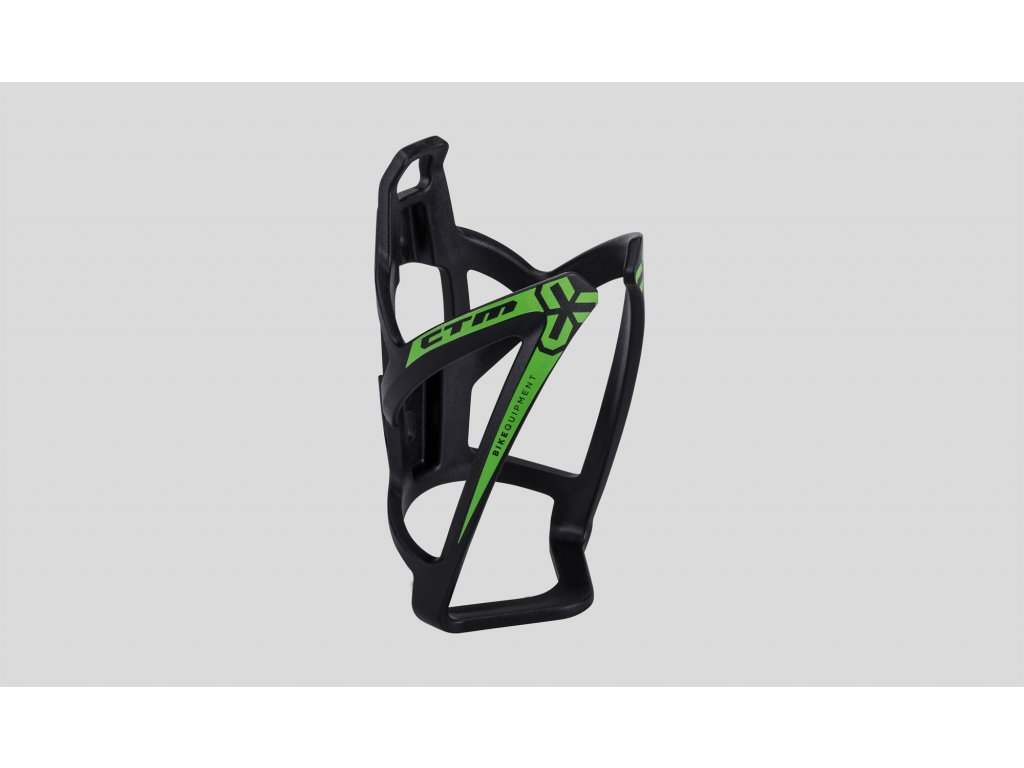 košík na fľašu CTM X-WING  čierno-zelený