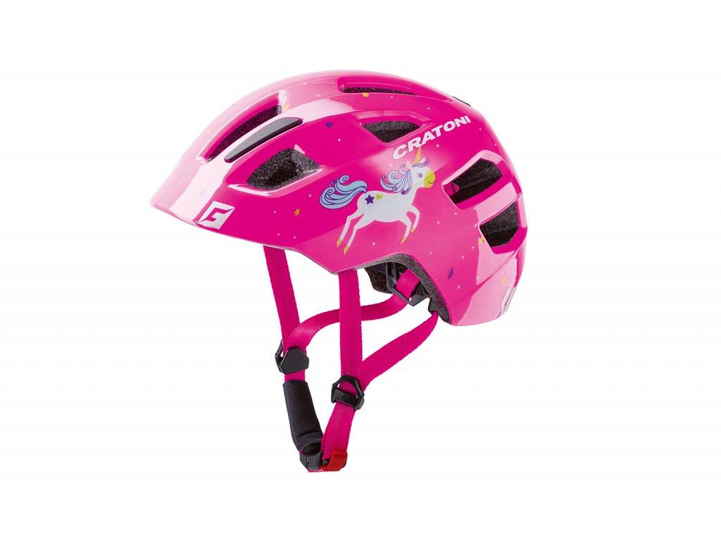 prilba CRATONI MAXSTER unicorn pink glossy S-M 51-56cm