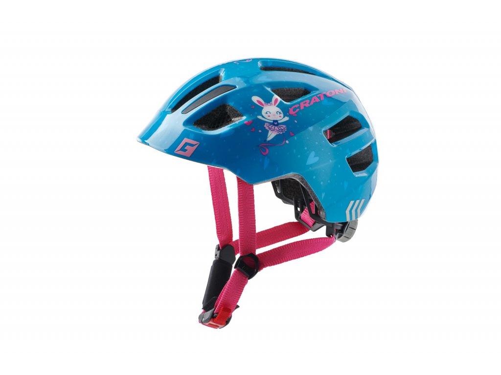 prilba CRATONI MAXSTER bunny blue glossy S-M 51-56cm