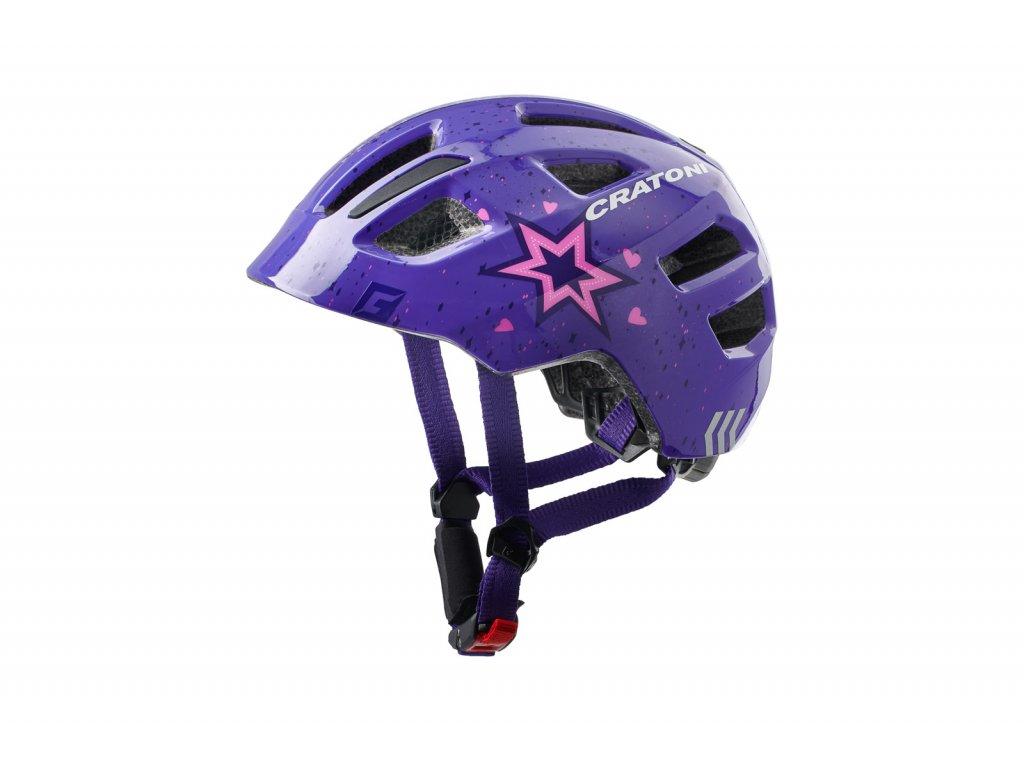 prilba CRATONI MAXSTER strar purple glossy S-M 51-56cm