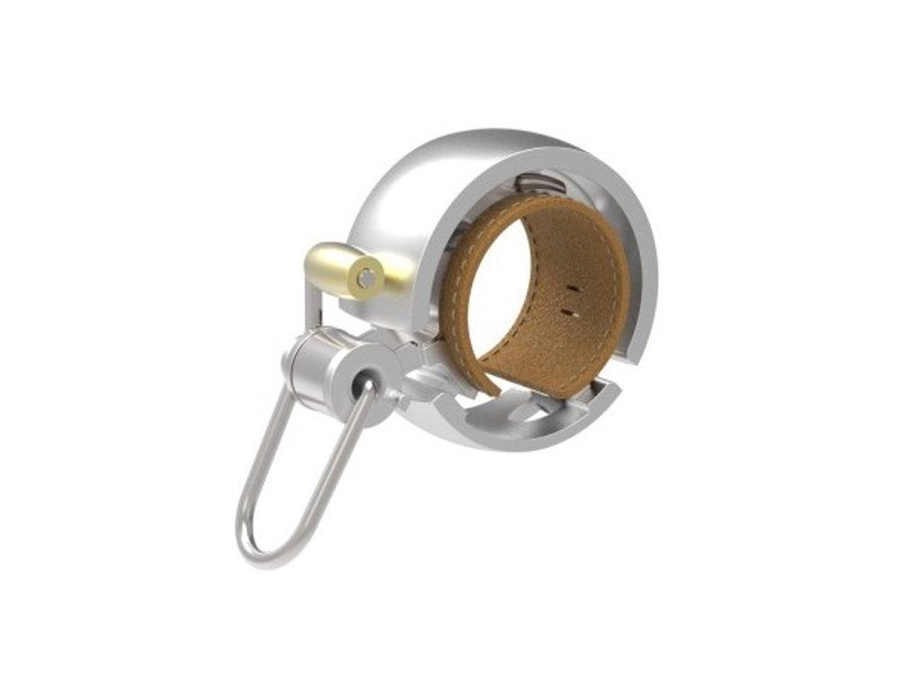 zvonček KNOG Oi Bell LUXE malý  strieborný