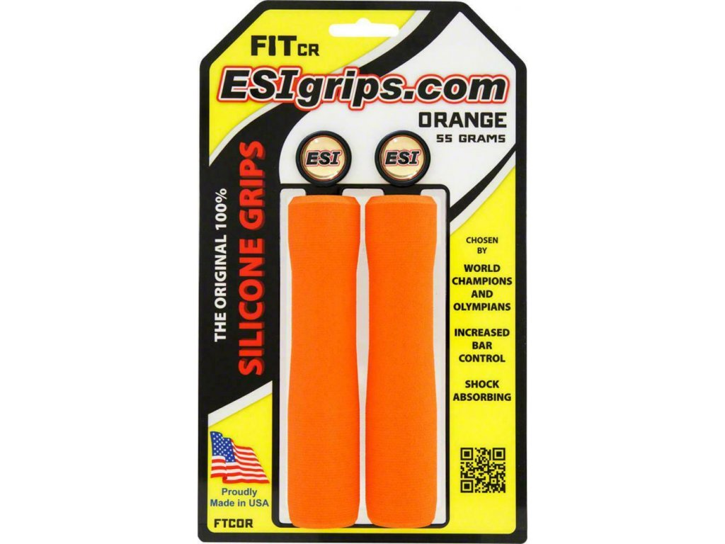 gripy ESI Fit CR, 55g, Orange / oranžová