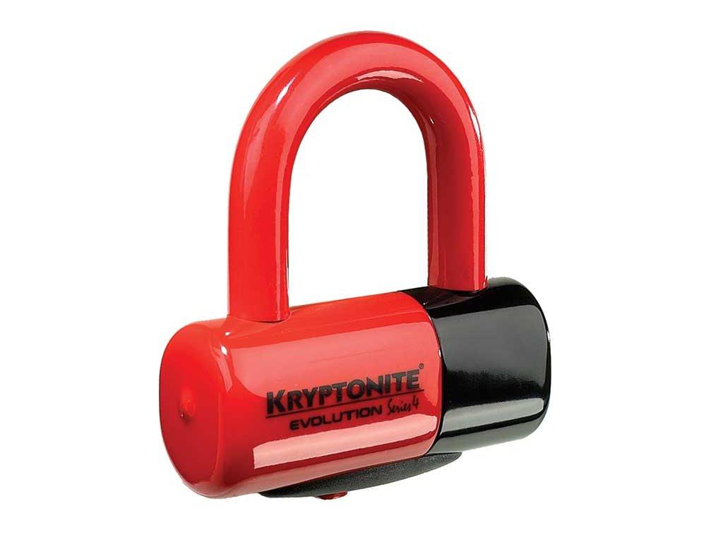 zámok KRYPTONITE Evolution Disc Lock 48x54mm RED