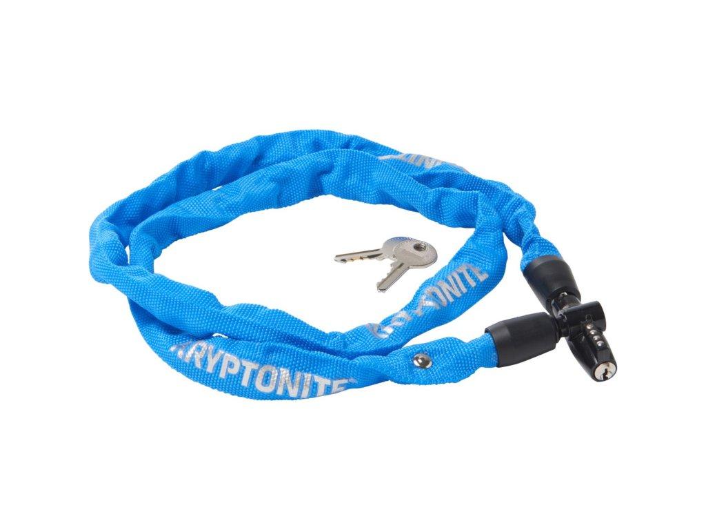 zámok KRYPTONITE KEEPER 411 KEY CHAIN 4x1100mm BLUE