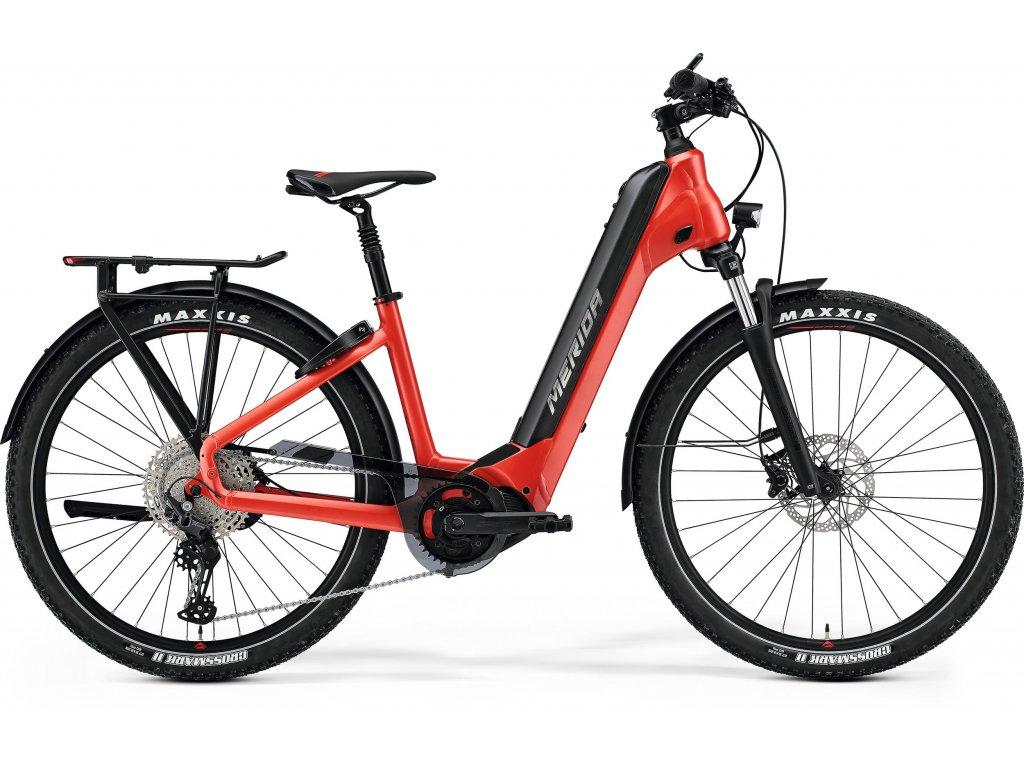 MERIDA eSPRESSO CC 600 EQ  XL(58) matný červený(čierny) 2021