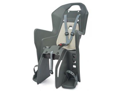 detska sedačka zadna POLISPORT KOOLAH na nosič šedostrieborn