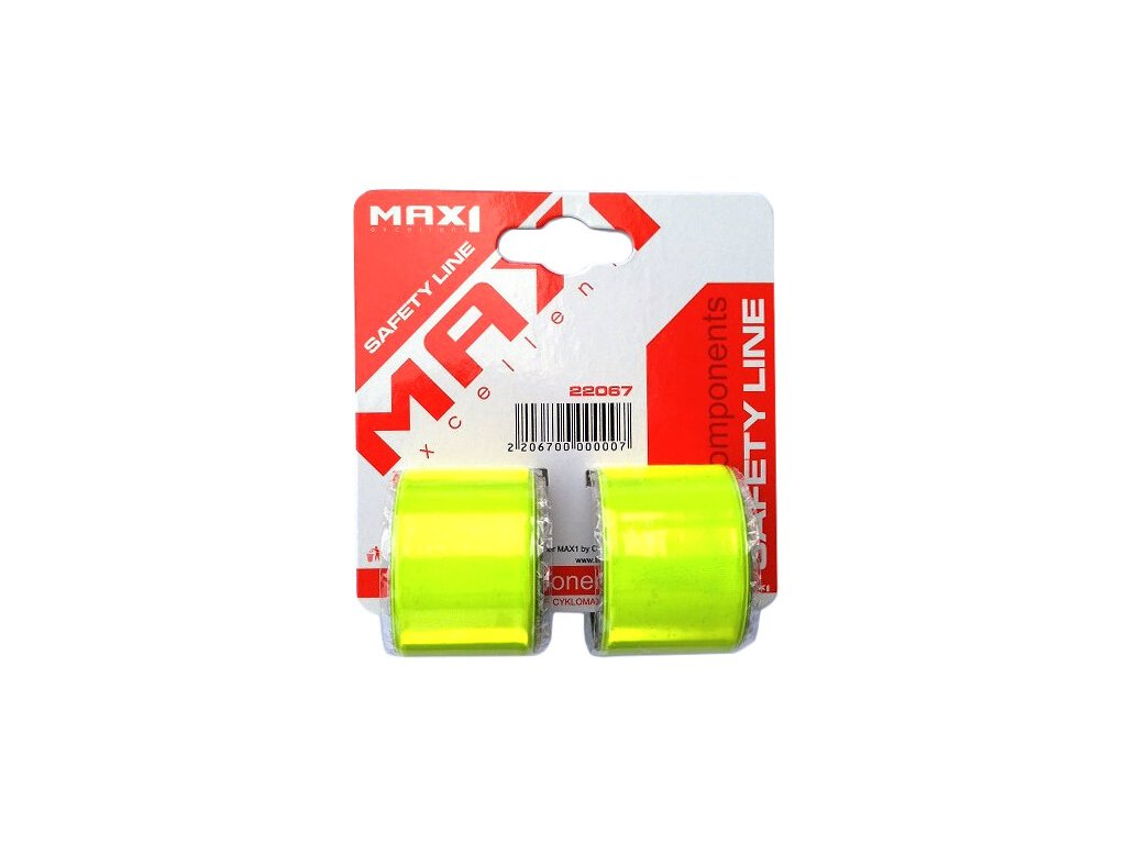 MAX1 páska reflexní svinovací 39 cm 2ks na kartě