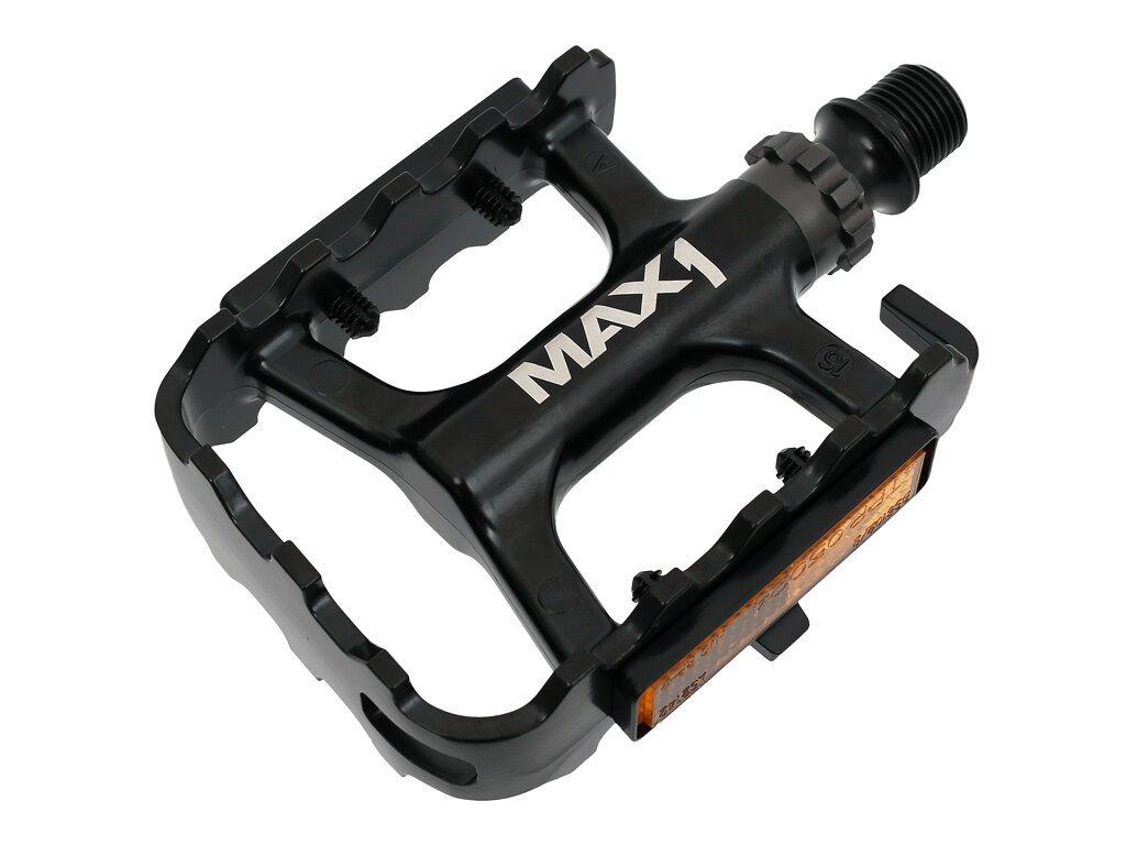 MAX1 Race ložiskové hliníkové černé pedály
