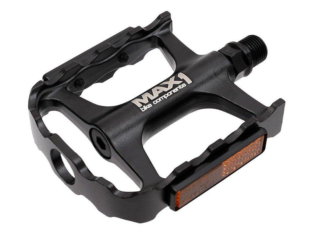MAX1 Tour XL ložiskové hliníkové černé  pedály